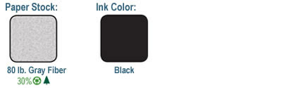 Stock and Ink Color Chart