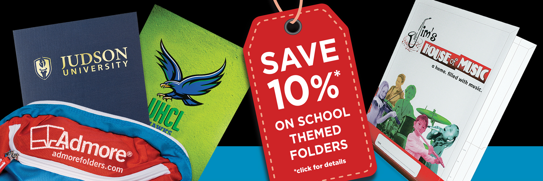 Save 10% on School Themed Folders from Admore