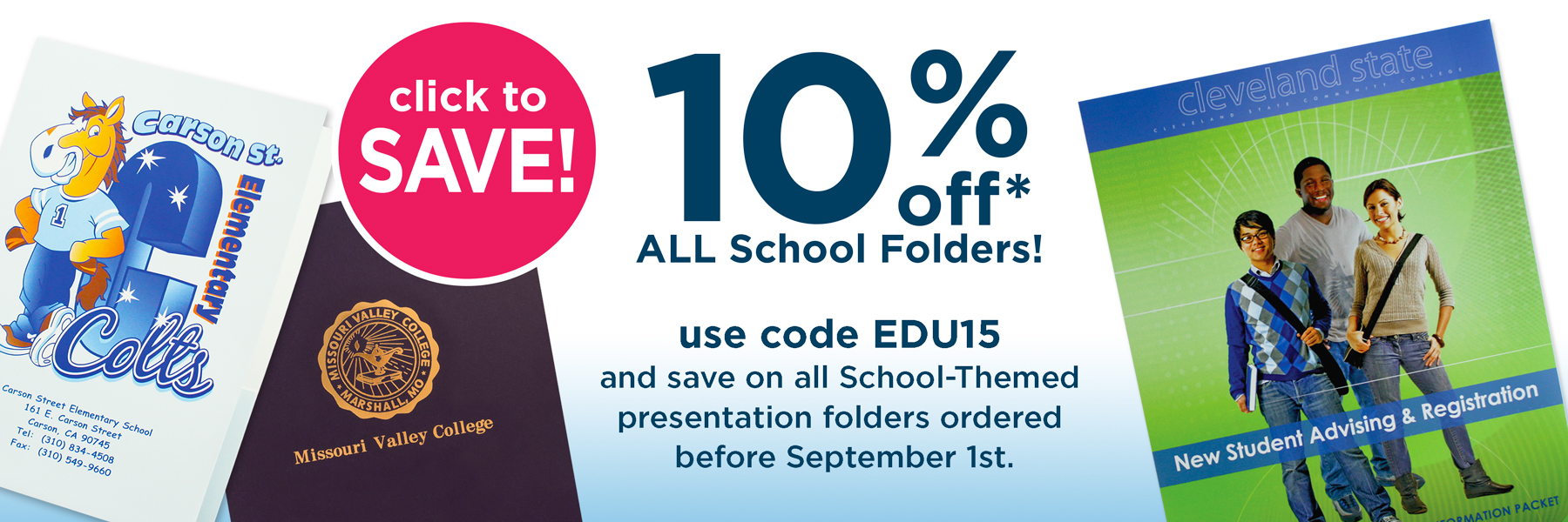 Save on Education Folder from Admore