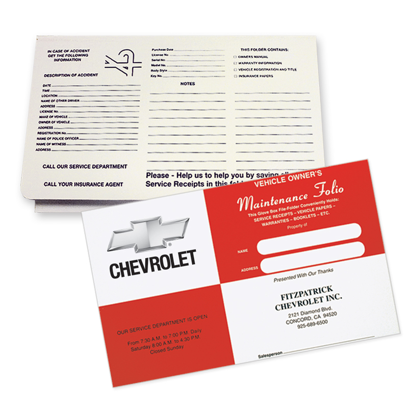 Automotive Document Folders