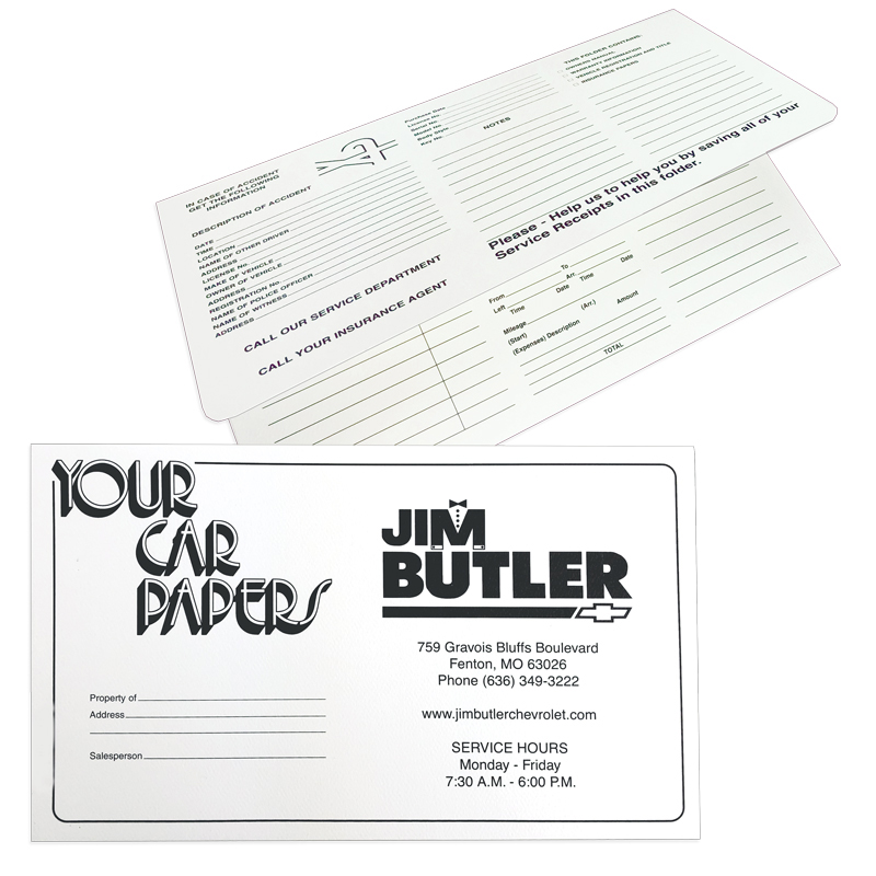 02-01-024 Your Car Papers Document Folder