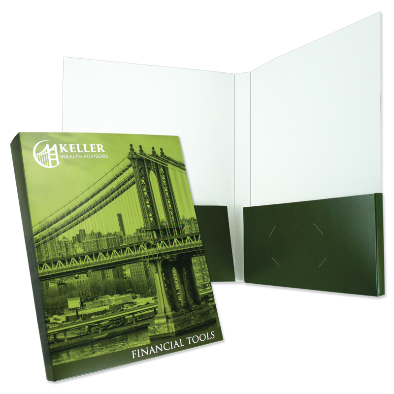 "08-20 Box Pocket Folder with Two 1/2"" Capacity Pockets"