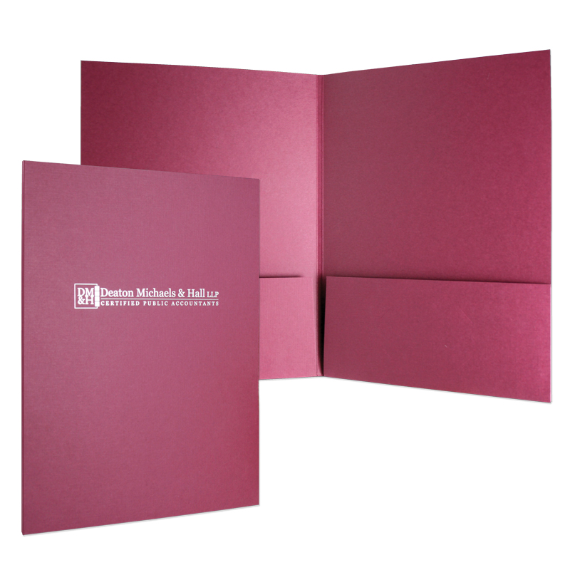 "08-31 Two Pocket Folder with 1/4"" Backbone"