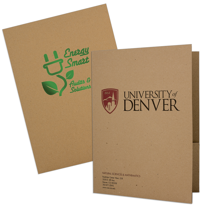 9 x 12 100% Recycled Folders