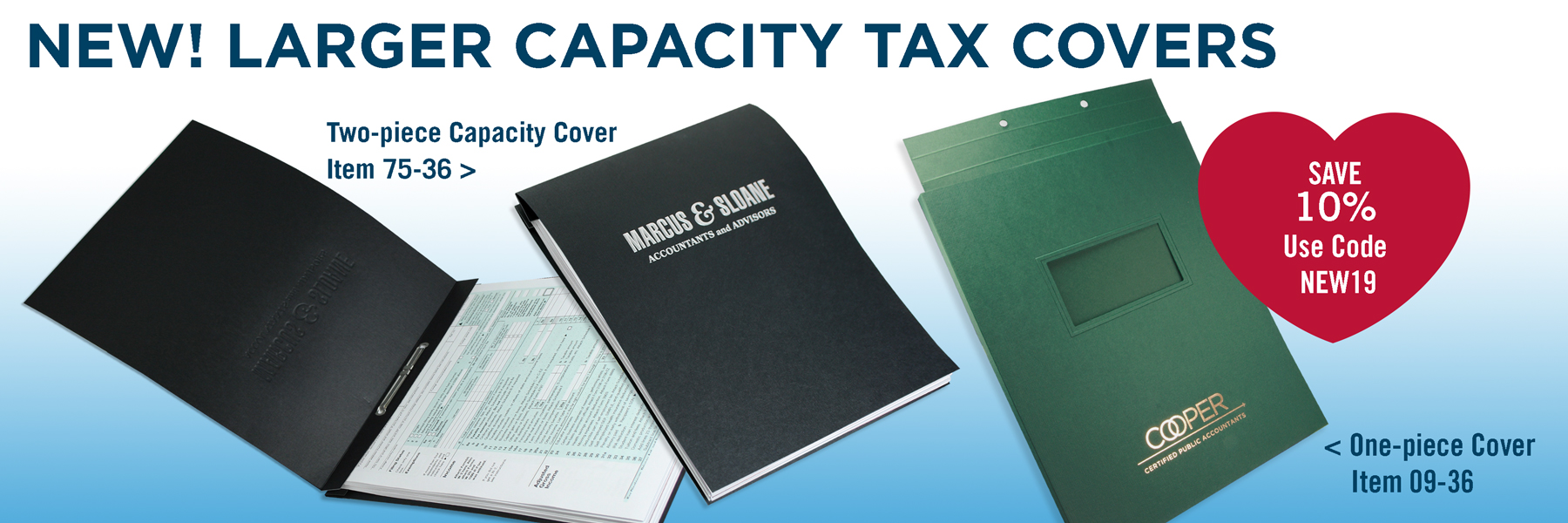 Larger Capacity Tax Covers