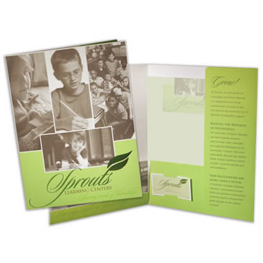 08-08 Two Pocket Folder with Info Flap