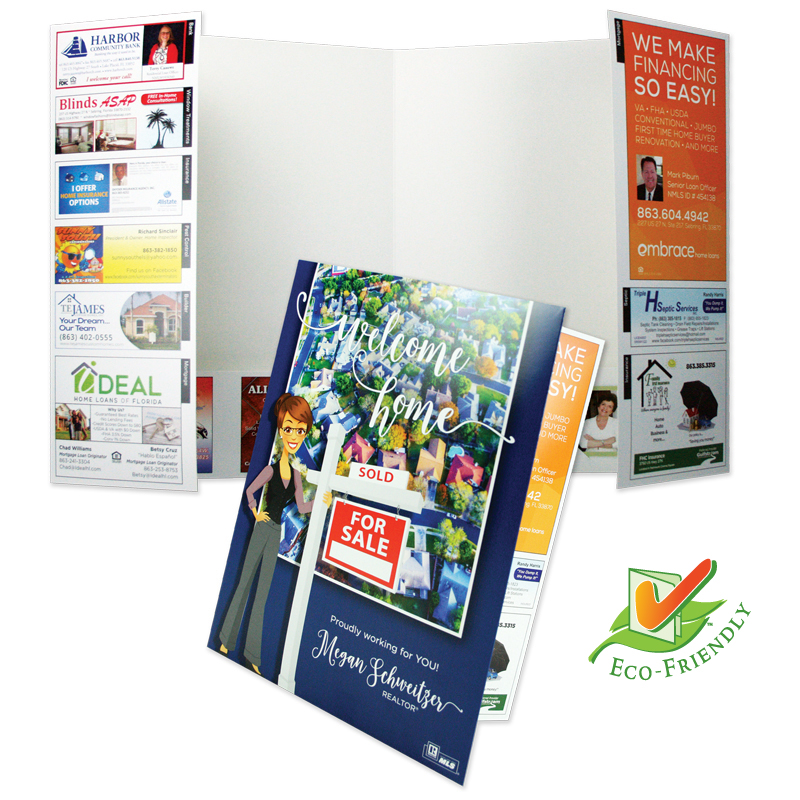 08-48 Two Pocket Folder with Info Flap
