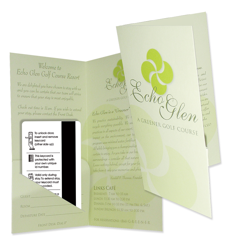 27-10 Hotel Key or Card Holder   Admore® Folders