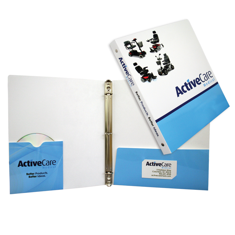 88-05 Three Ring Binder With Built-in Disc Sleeve