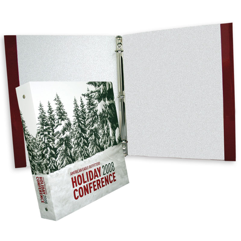 99-71 Three Ring Binder With Reinforced Edges, No Pockets
