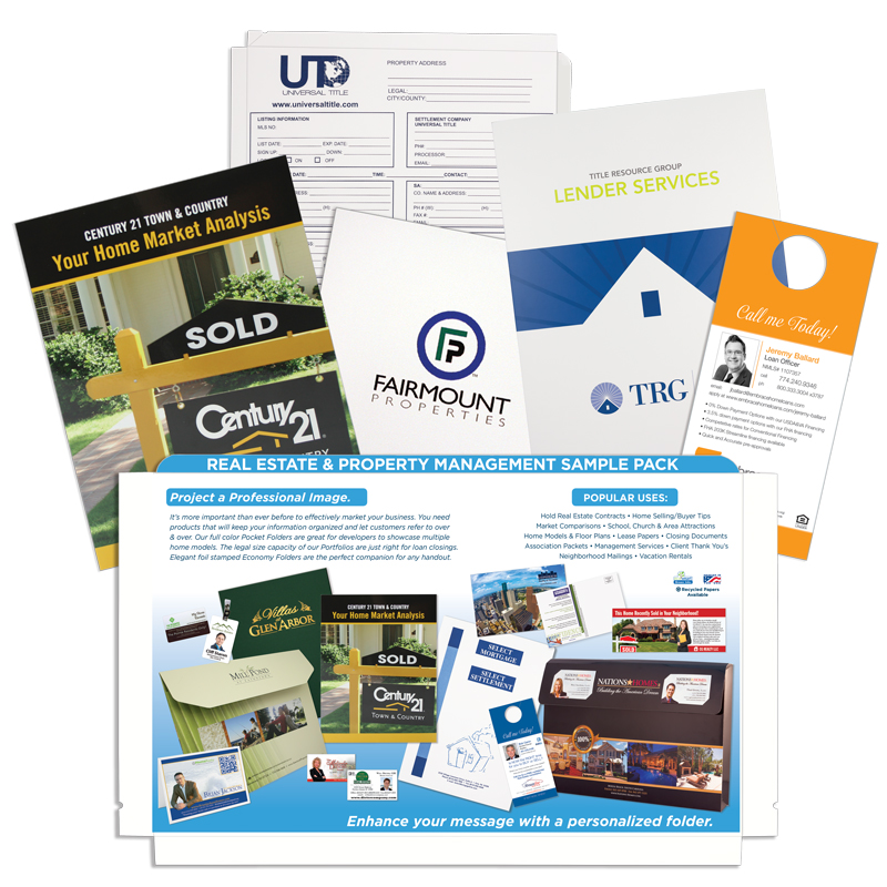 real estate sell sheets  u0026 sample packs