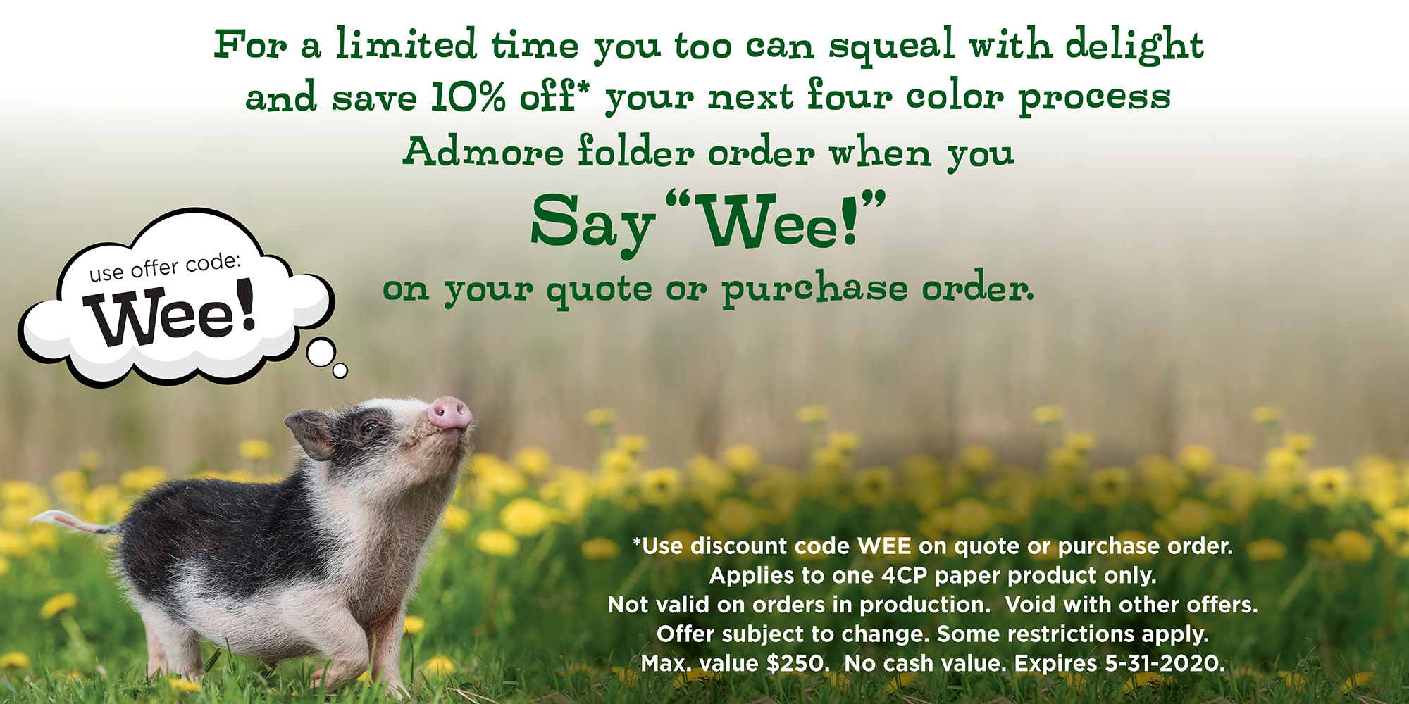 Say Wee! and Save 10%